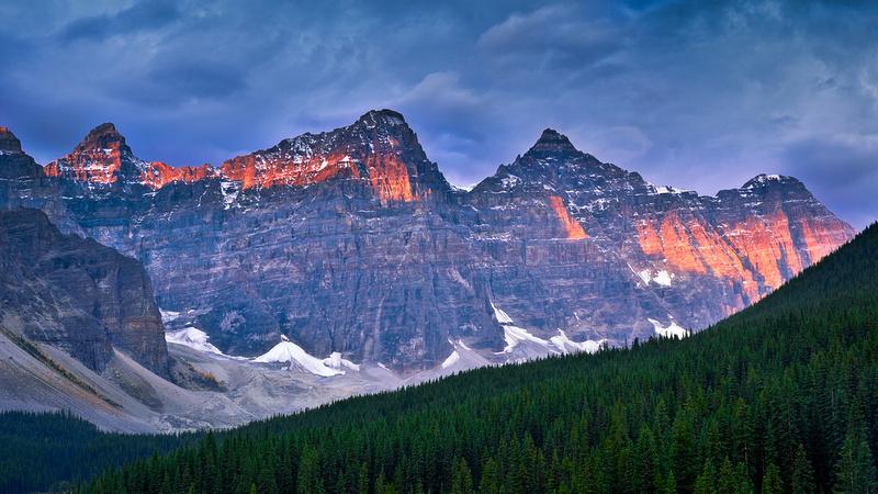 Morning Light at Ten Peaks
