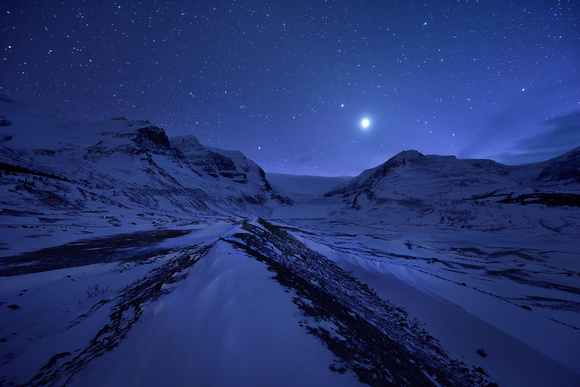 Starring Night at Ice Field